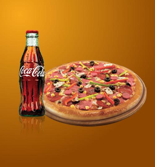 Karışık Pizza & 200ml. İçecek